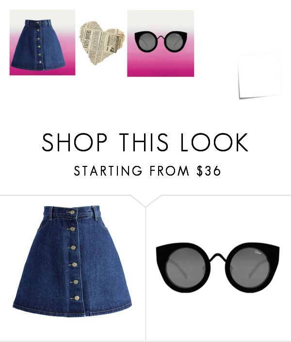 """Pink"" by nattavr on Polyvore featuring moda, Post-It, Chicwish y Quay"