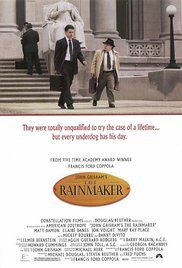 The Rainmaker (1997)  PG-13  Crime, Drama  7.1   Rudy Baylor is a jobless young attorney. However, he is also the only hope of an elderly couple whose insurance company will not pay for an operation that could save their son's life. In this judicial drama, Rudy learns to hate corporate America as he falls in love with a battered young married woman. Will he be up to the task?