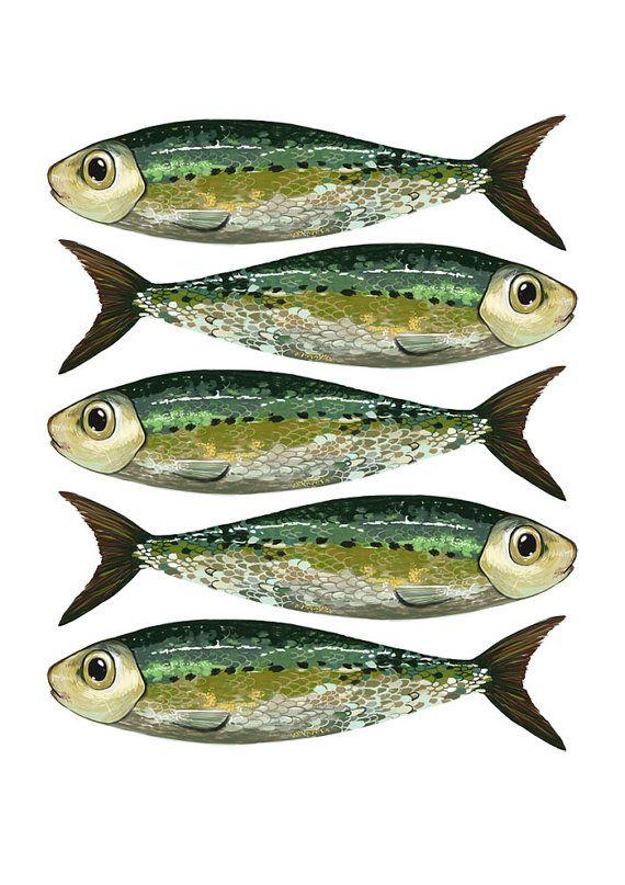 Impression A5 // Serrées comme des sardines // 6 x 8