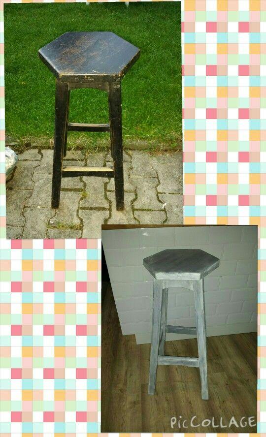 Úprava staré židle na provance style