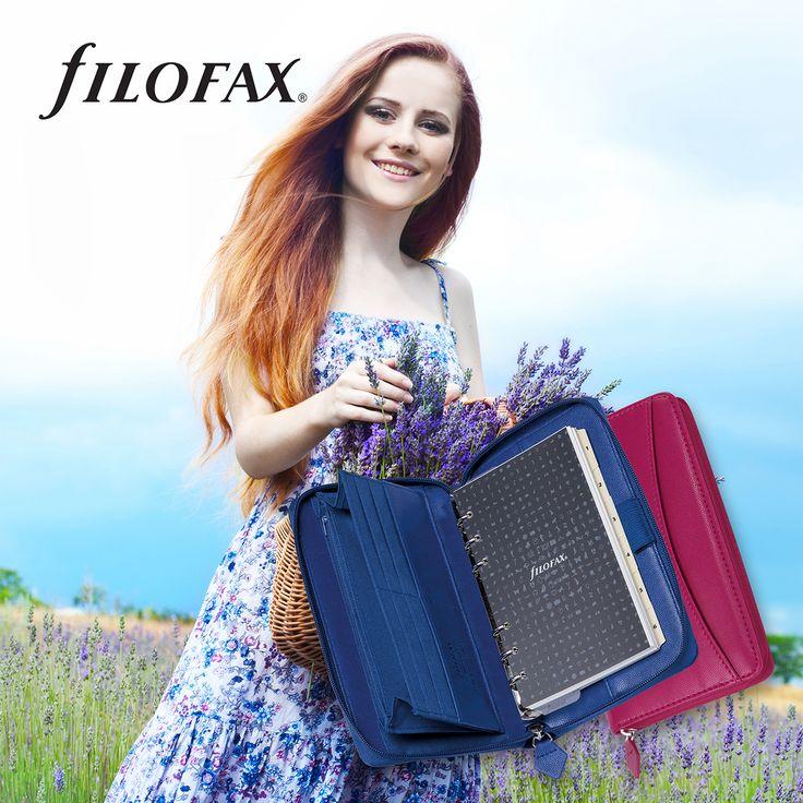 Filofax Pennybridge Compact Blue and Raspberry
