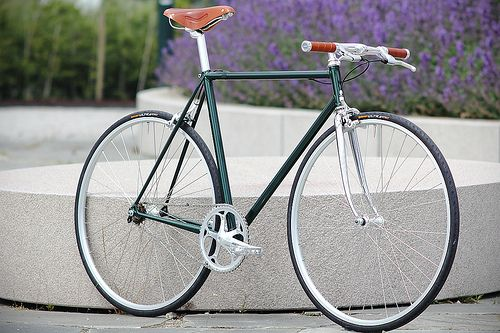 Racing Green Metallic Singlespeed | Built on an old Battagli… | Flickr
