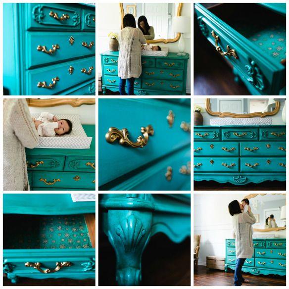 Création Personnalisée - Chalk paint™ - Couleur Florence. Création Aube design