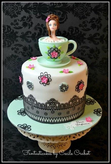 Teacup   Lace Cake