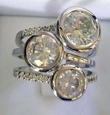 stack rings white gold, diamonds nicki bottcher