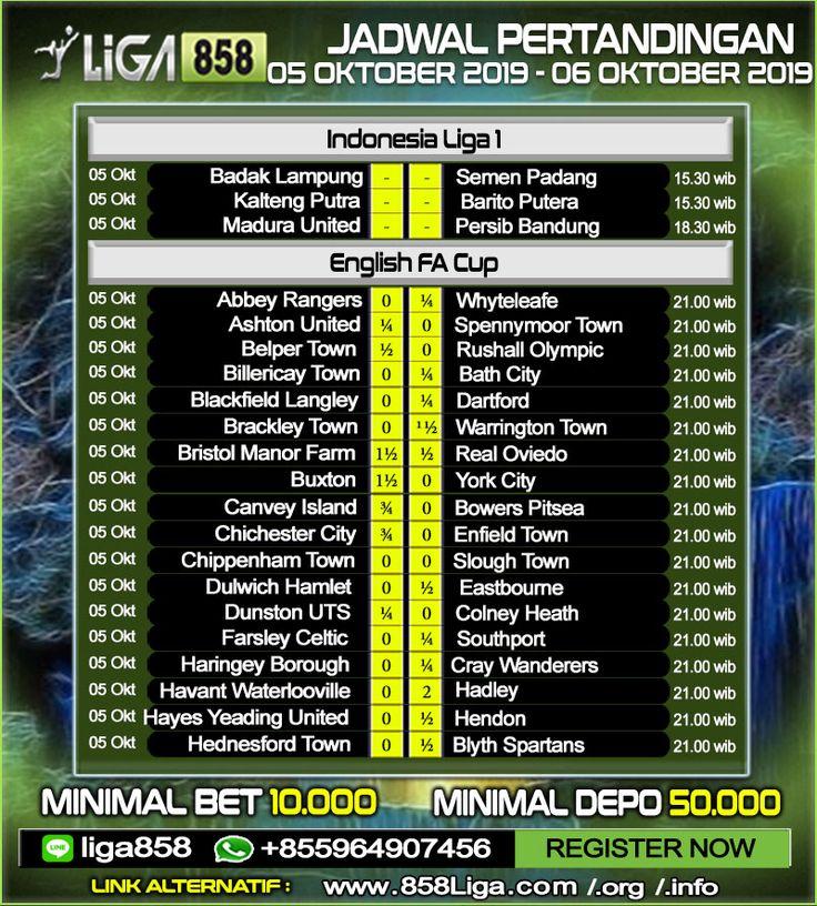 Jadwal Pertandingan Sepak Bola 05 06 Oktober 2019 Promo