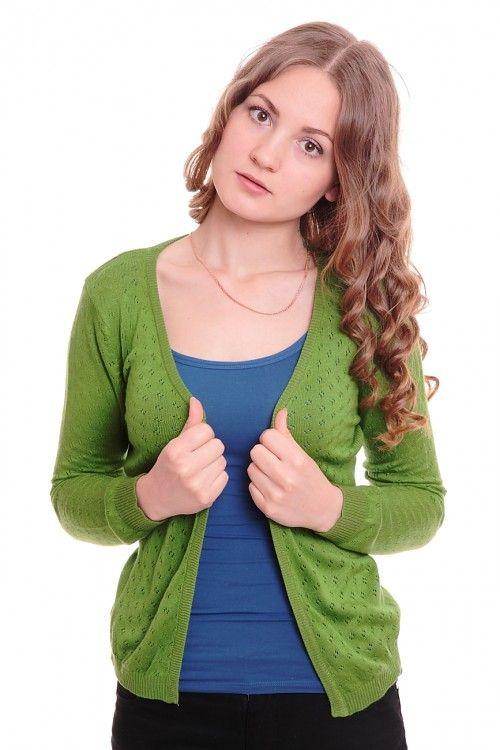 Кардиган А6085 Размеры: 42-44 Цвет: зеленый Цена: 300 руб.  http://optom24.ru/kardigan-a6085/  #одежда #женщинам #кардиганы #оптом24