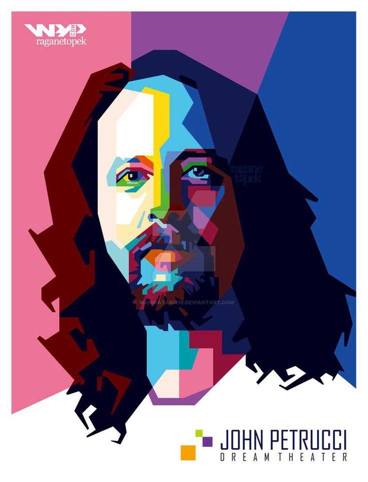 john petrucci WPAP by mahiratama19.deviantart.com on @DeviantArt
