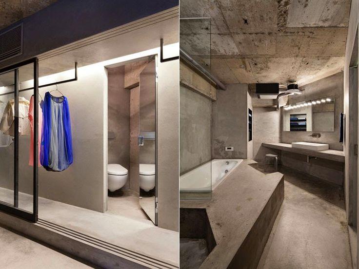 apartamento japonés hecho integramente de cemento