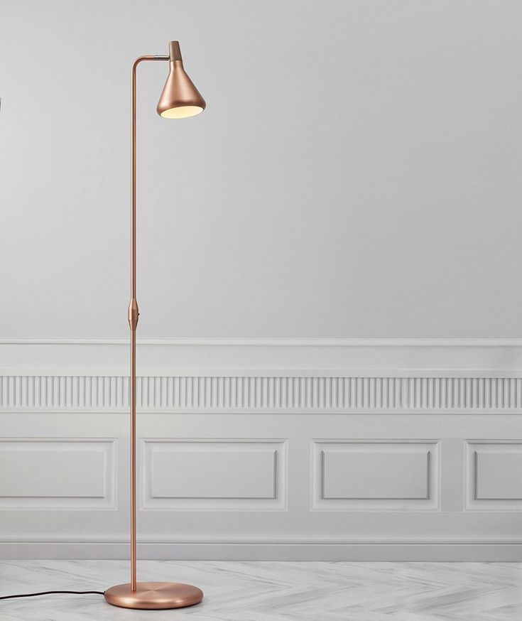 Nordlux Float Floor Light (brushed copper, oiled walnut, floor lamp, GU10)…