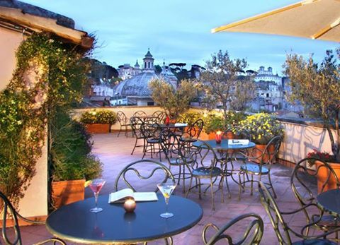 Hotel Locarno is only moments away from Piazza Popolo. With its elegant decor and charming garden courtyard and rooftop terrace you will feel like you have been transported to 1920's Rome. http://www.anaffairwithitaly.com/…/St…/view/46/Hotel-Locarno Image credited to Hotel Locarno.