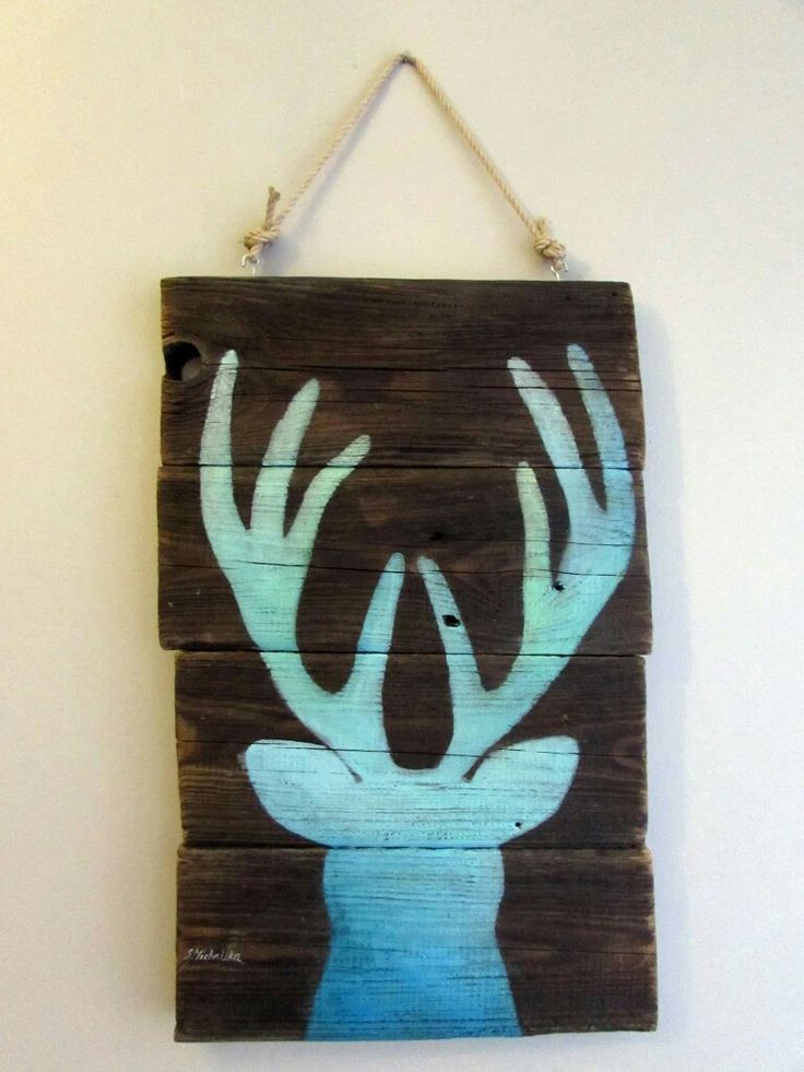 fantastyczny motyw jelenia do dekoracji wnętrz by Sylwia Michalska