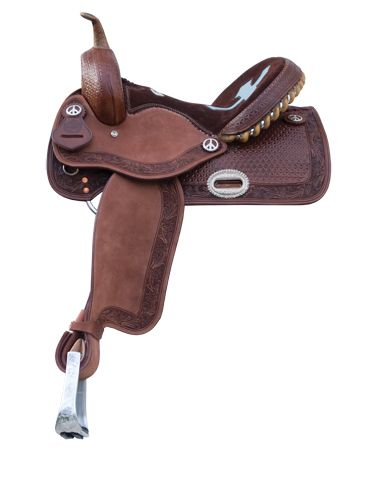 Alamo Saddlery Inlaid Cross Barrel Saddle| The Saddle Company