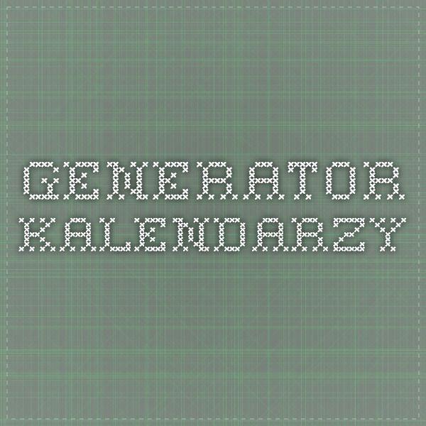 Generator kalendarzy