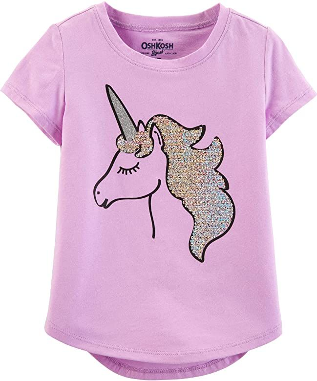 OshKosh Girls Sequin Short-Sleeve T-Shirt T-Shirt