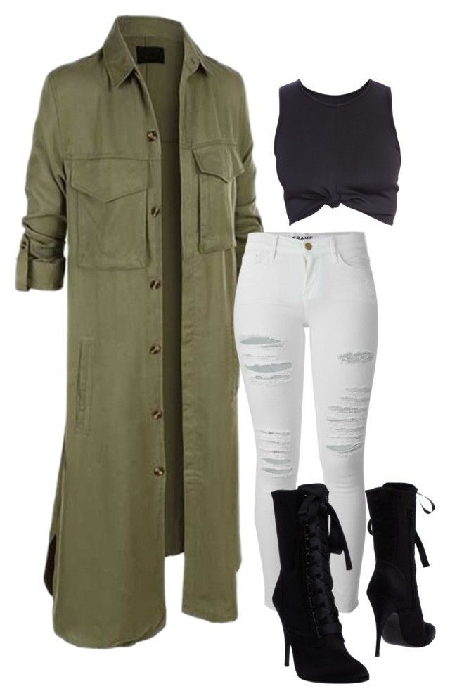 Untitled 187 By Iloveivonne On Polyvore Featuring Polyvore Fashion Style Frame Denim Balmain Women S Clothing Women S F Outfit Ideen Mode Outfits Outfit