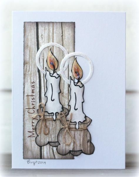 IC468 Wooden Candle Holders by Biggan - Cards and Paper Crafts at Splitcoaststampers