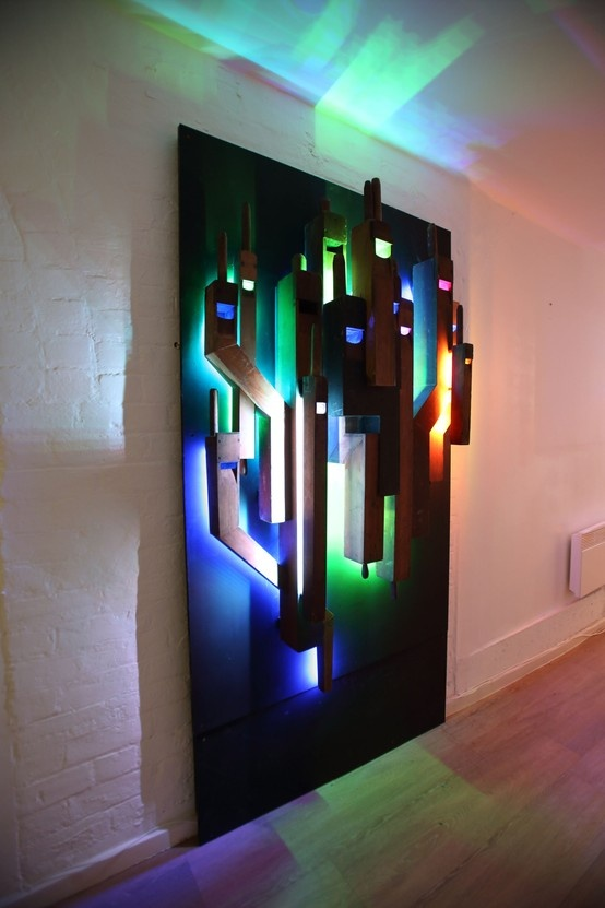 Reclaimed organ pipes transformed into light art for Art in the Arch@Sleeperz at Sleeperz Hotel Newcastle