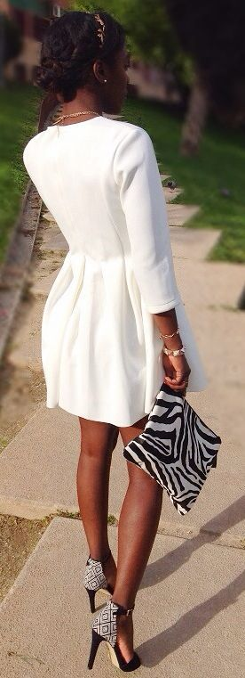The Dress! The bag! The Shoes!! TRIFECTA!!!  G Findings Blair White Dress