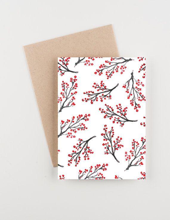 Red Berries Holiday 2015 Christmas and New от seahorsebendpress