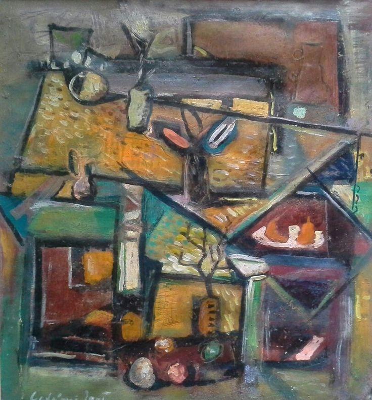 Gadányi Jenő (1896 - 1960) Csendélet-Olaj,papír Mihály - Gyűjtemény