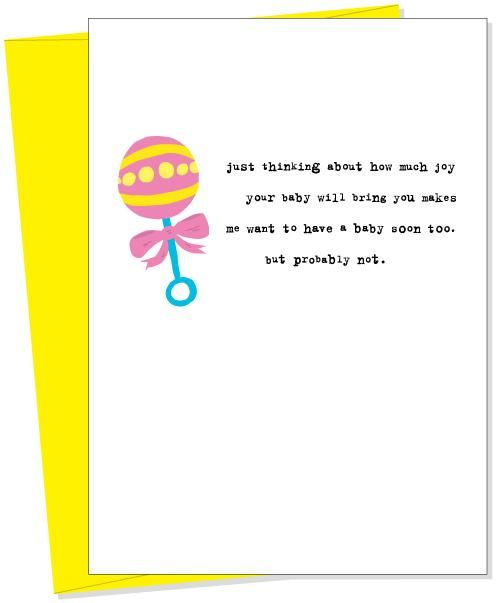 10 best baby cards images on pinterest baby cards funny gifts and uncooked greeting cards hit the mark between simplicity and quirky with cards that can work for your best friends birthday or the day they get fired m4hsunfo