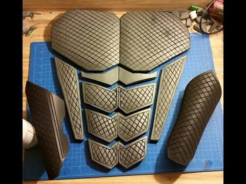 How to make clean straight detail lines in EVA foam cosplay armor by Griffin Cosplay - YouTube