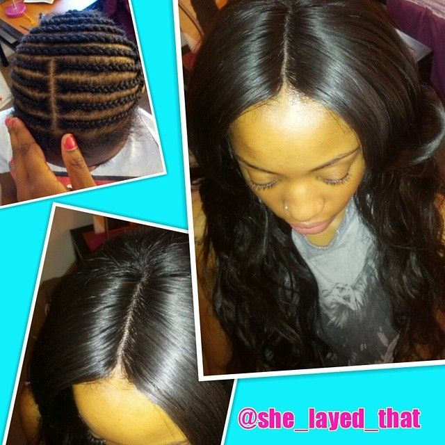 Full sew in weave with lace closure. #shelayedthatr