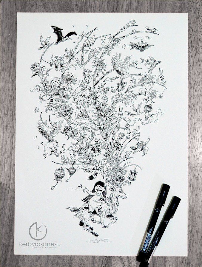 87 best Kerby Rosanes images on Pinterest | Doodles, Doodle art and ...