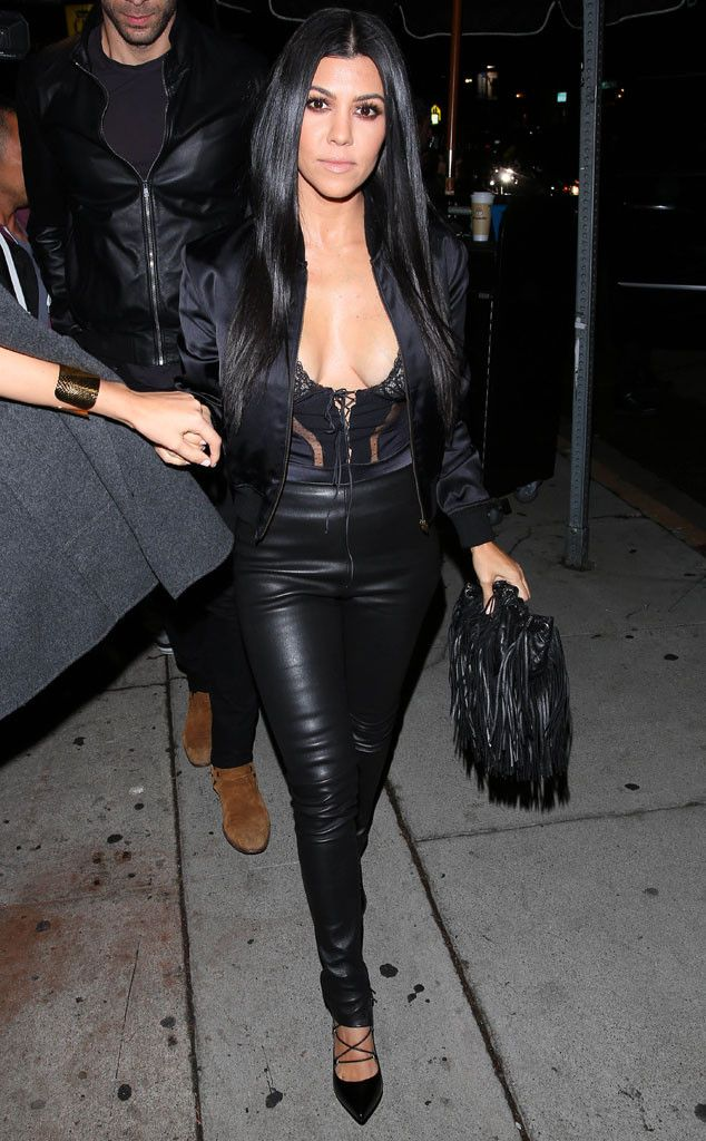 Kourtney Kardashian Shows a Bit Too Much Skin at Kendall Jenner's Birthday Party | E! Online