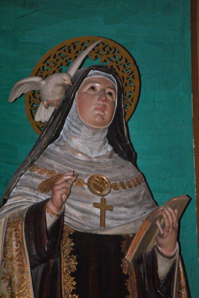 Santa Teresa de Jesús, como Doctora. Parroquia de Nuestra Señora del Carmen, PP. Carmelitas Descalzos.