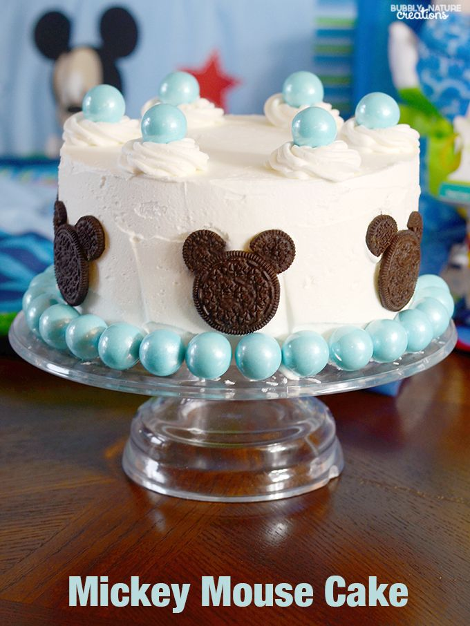 Mickey Mouse Cake for a Disney Baby Shower! #ad #MagicBabyMoments @Walmart