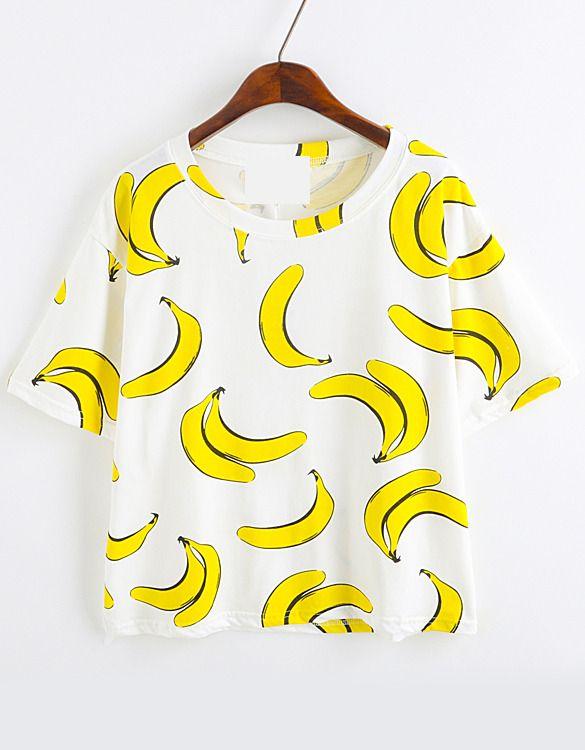 Banana Print Loose T-Shirt 8.90