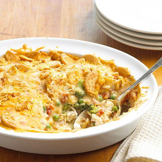 Hot 'n' Cheesy Chicken Casserole: Fun Recipes, Easy Recipe, Chicken Recipes, Cheesy Chicken Casserole, Casseroles, Food, Hot, Casserole Recipes