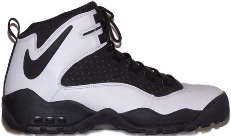 Nike Air Darwin, 1994. I loved the backwards Swoosh around the back of the heel. Dennis Rodman basically made these famous.