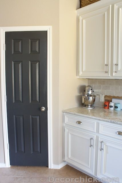 Sherwin williams iron ore door sherwin williams for Alabaster kitchen cabinets