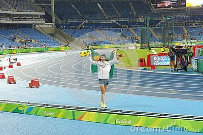 Thiago Braz da Silva, young Brazilian athlete celebrates his gold medal in men's pole vault and achieving Olympic record of 6.03m and his personal best at the Rio 2016 Olympic Games Picture taken on Aug 15, 2016