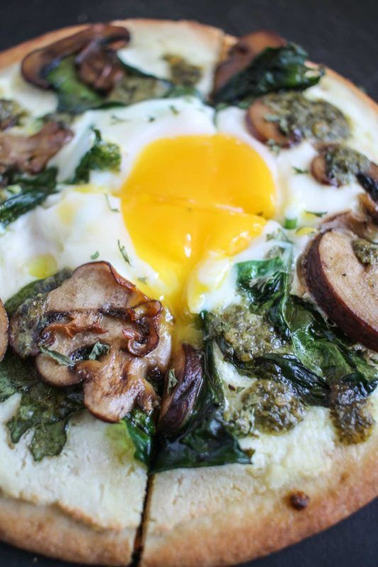 You need this Breakfast Pita Pizza for a fast and easy morning meal! via Kit Graham