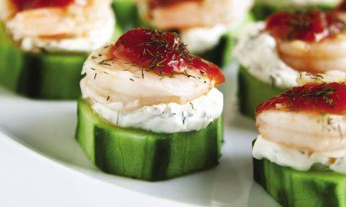 Shrimp Cocktail Cucumber Bites | Recipe | Cream cheeses, Cucumber ...