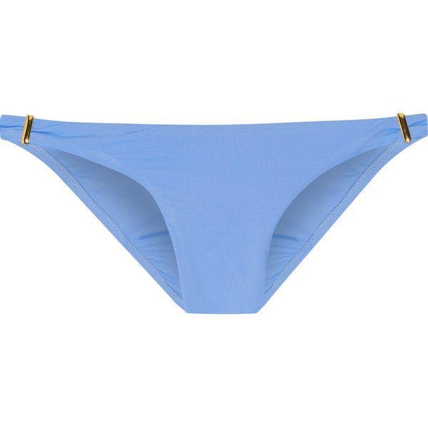 Melissa Odabash Martinique bikini briefs ($105) ❤ liked on Polyvore featuring light blue, bandeau bikini top, bandeau tops and melissa odabash
