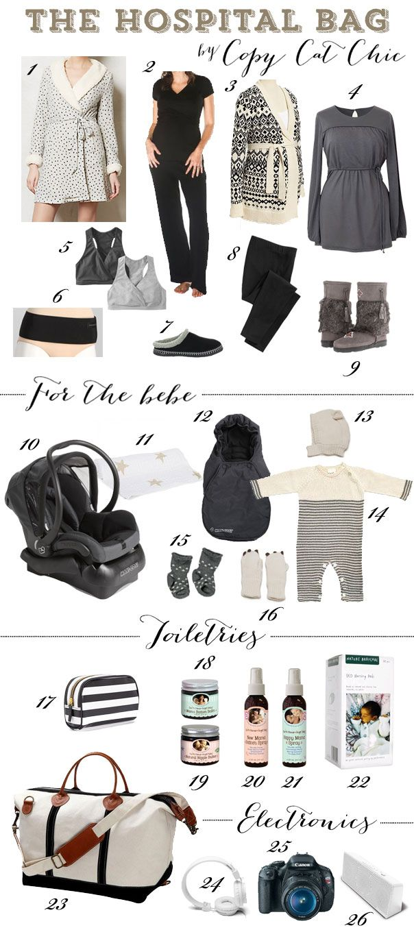 Packing the Hospital Bag, What To Pack for the Hospital for Mom & Baby | Copy Cat Chic: Parent Props