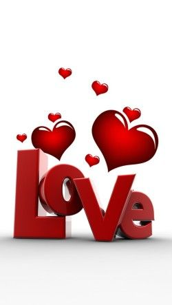 Sleek 3d Love And Heart Wallpaper Free Iphone Wallpapers Heart Wallpaper Love Wallpaper Valentines Day Hearts