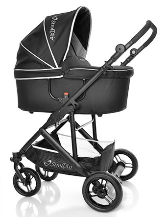 StrollAir CosmoS. Best single stroller. Independent footrest and backrest. Full recline. Only 20 lbs with seat and wheels on. Very compact fold. Allows you to change a diaper in the stroller. :) $499.99 bassinette, seat, diaper bag, mosquito net, rain cover! All included! www.stroll-air.com