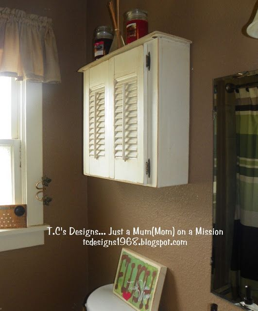 DIY Bathroom Decor: Drawer Repurposed To Bathroom Wall Cabinet {Tutorial}
