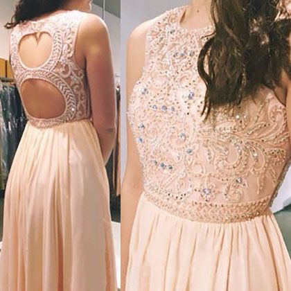 Pastel Prom Dresses with Keyhole Back, High Neck Sleeveless Prom Dresses with Beaded Bodice, Illusion Beaded Prom Dresses, #02019081 · VanessaWu · Online Store Powered by Storenvy