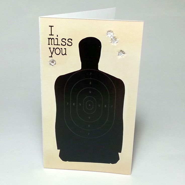 How cute is this card? Granted, I'd probably use a pencil and not a .22 to get the holes in it...