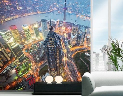 Selbstklebende Tapete Folie : Selbstklebende #Tapete – Fototapete #Shanghai #asien #asia #