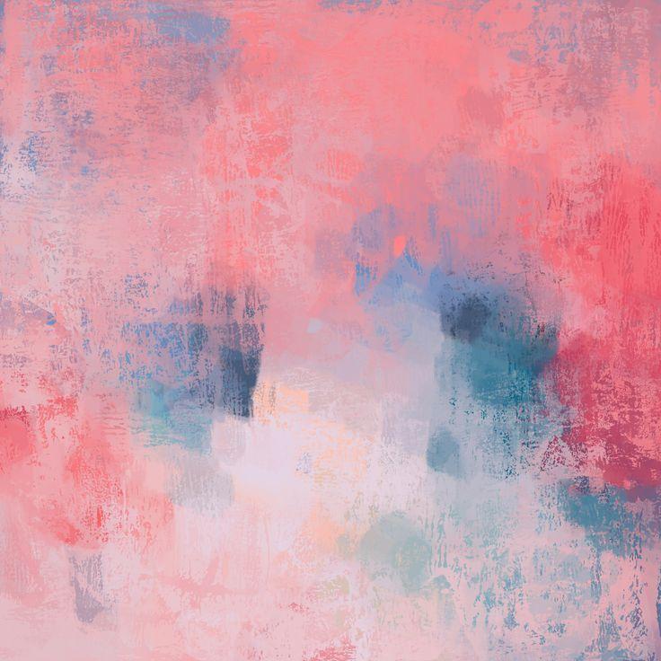 """Amelia"" print, modern contemporary mixed media artwork, pink colour palette, http://etsy.me/2kBVE1t"