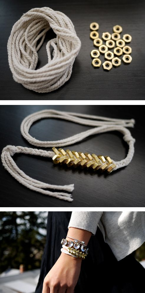 diy armband! let's all design awesome jewelry together. :-) #gifts