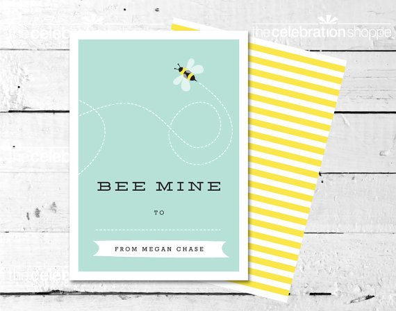 Bee Mine Bumble Bee Personalized Valentine by ...